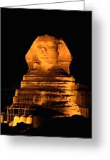 Egypt---giza Pyramids.  The Sphinx Greeting Card by Richard Nowitz