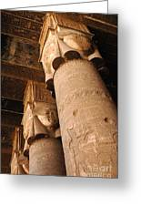 Egypt Temple Of Dendara Greeting Card by Bob Christopher