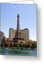 Eiffel Tower Las Vegas Greeting Card by James Granberry