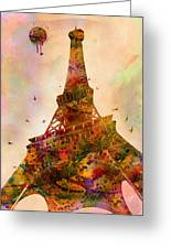 Eiffel Tower  Greeting Card by Mark Ashkenazi