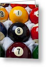 Eight Ball Greeting Card by Garry Gay
