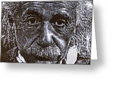 Einstein Greeting Card by Max Eberle