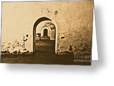 El Morro Fort Barracks Arched Doorways San Juan Puerto Rico Prints Rustic Greeting Card by Shawn O'Brien