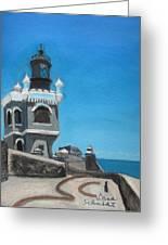 El Morro Fort In Old San Juan Puerto Rico Greeting Card by Dana Schmidt