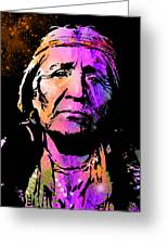 Elderly Hupa Woman Greeting Card by Paul Sachtleben