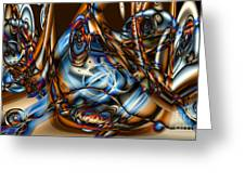 Electric Blue Greeting Card by Ron Bissett