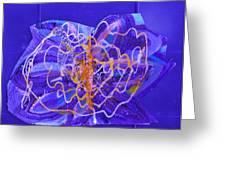 Electric Ecstasy Greeting Card by Anne-Elizabeth Whiteway