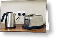 Electric Kettle And Toaster Greeting Card by Johnny Greig