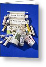 Electrical Fuses Greeting Card by Andrew Lambert Photography