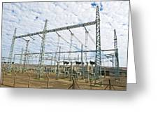 Electricity Substation Greeting Card by Peter Chadwick