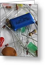 Electronic Components Greeting Card by Photo Researchers, Inc.