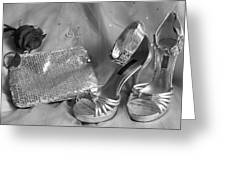 Elegant Night Out In Black And White Greeting Card by Mark J Seefeldt