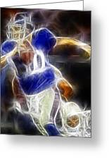Eli Manning Quarterback Greeting Card by Paul Ward