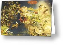 Elves And Fairies A Midsummer Night's Dream Greeting Card by John George Naish