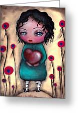 Elvira's Heart  Greeting Card by  Abril Andrade Griffith