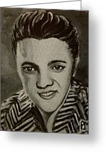 Elvis In Z Shirt Greeting Card by Pete Maier