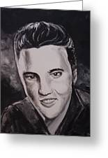 Elvis Greeting Card by Pete Maier