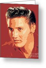 Elvis Presley - The King Greeting Card by David Lloyd Glover
