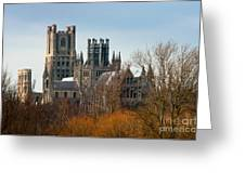 Ely Cathedral Scenic Greeting Card by Andrew  Michael