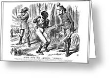Emancipation Cartoon, 1863 Greeting Card by Granger