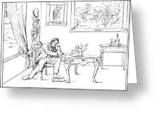 Emancipation Cartoon Greeting Card by Granger