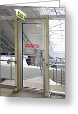 Emergency Exit At An Airport Greeting Card by Jaak Nilson
