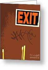 Emergency Exit Greeting Card by Joe Jake Pratt