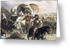 Emigrants To West, 1874 Greeting Card by Granger