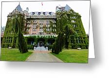 Empress Hotel - Victoria Canada Greeting Card by Gregory Dyer