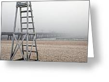 Empty Lifeguard Chair Greeting Card by Skip Nall