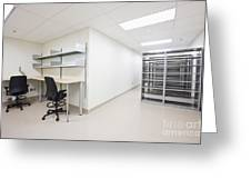 Empty Metal Shelves And Workstations Greeting Card by Jetta Productions, Inc