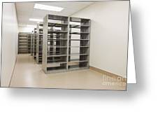 Empty Metal Shelves Greeting Card by Jetta Productions, Inc