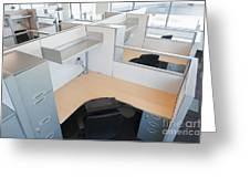 Empty Office Cubicles Greeting Card by Jetta Productions, Inc
