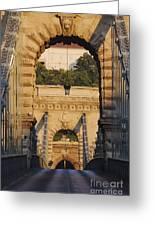 Empty Stone Bridge Greeting Card by Jeremy Woodhouse
