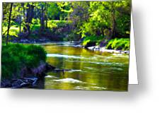 Enchanted River Greeting Card by Rebecca Frank