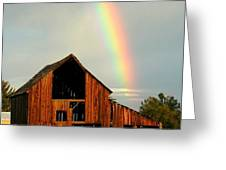End of the Rainbow Greeting Card by Cindy Wright