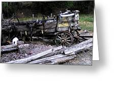 End Of The Trail Oregon Conestoga Wagon  Greeting Card by Glenna McRae