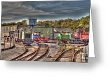Engine Sheds Quainton Road Buckinghamshire Railway Greeting Card by Chris Thaxter