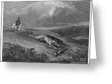 England: Coursing, 1833 Greeting Card by Granger