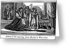 England: Martyr, 1550 Greeting Card by Granger