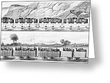 England: Railroad Travel Greeting Card by Granger
