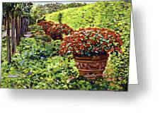 English Flower Pots Greeting Card by David Lloyd Glover