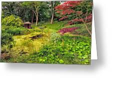 English Garden  Greeting Card by Adrian Evans