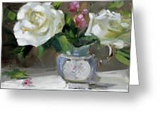 English Tea Rose Greeting Card by Chris  Saper