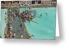 Enjoying The Pool At Jones Beach State Greeting Card by B. Anthony Stewart