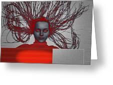 Enlightnment Greeting Card by Naxart Studio