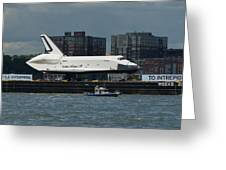 Enterprise To Intrepid Greeting Card by Gary Eason