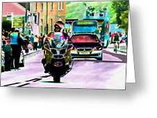 Entourage Greeting Card by Sharon Lisa Clarke