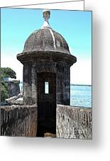 Entrance To Sentry Tower Castillo San Felipe Del Morro Fortress San Juan Puerto Rico Poster Edges Greeting Card by Shawn O'Brien