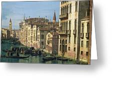 Entrance To The Grand Canal Looking West Greeting Card by Canaletto